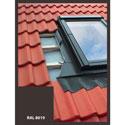 Lemovanie pre střešný výlez | 45x73 cm (450x730 mm) | hnedé | pre profilovanú krytinu
