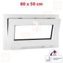 Plastové okno 80 x 50 cm, biele, sklopné
