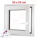 Plastové okno 55x55 cm, otváravé aj sklopné, biele, ľavé