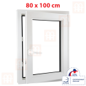 Plastové okno 80 x 100 cm, otváravé aj sklopné, biele, pravé