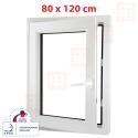 Plastové okno 80x120 cm, otváravé aj sklopné, biele, ľavé