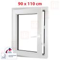 Plastové okno 90x110 cm, otváravé aj sklopné, biele, ľavé