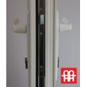 Plastové dveře   90 x 205 cm (900 x 2050 mm)   bílé   prosklenné   pravé