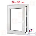 Plastové okno 70x90 cm, otváravé aj sklopné, biele, ľavé