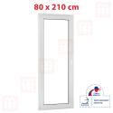 Plastové dvere 80 x 210 cm, biele, otváravé aj sklopné, ľavé