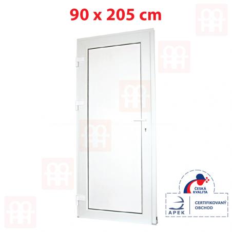 Plastové dvere   90 x 205 cm (900 x 2050 mm)   biele   plné   ľavé