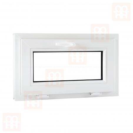 Plastové okno   101x60 cm (1010x600 mm)   biele   sklopné   pivničné   VEKA