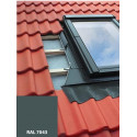 Lemování pro střešní okno 55x78 cm, hnědá RAL 8019, profilovaná krytina