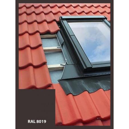 Lemovanie pre střešné okno, výlez | 55x78 cm (550x780 mm) | hnedé | pre profilovanú krytinu