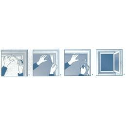 Okenná sieť proti hmyzu | 100 x 100 cm (1000 x 1000 mm) | čierna | univerzálna
