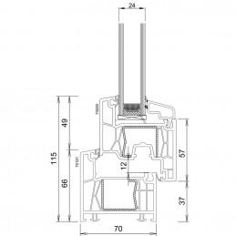 Sklopné plastové okno 80x50 cm, bílé, 6 komor