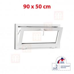 Plastové okno 90 x 50 cm, biele, sklopné