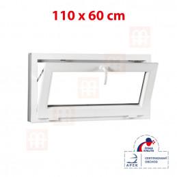 Plastové okno 110 x 60 cm, biele, sklopné