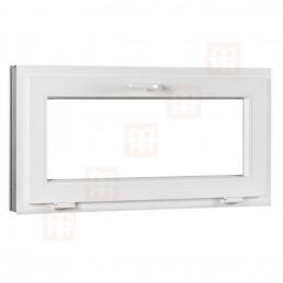 Plastové okno 120 x 70 cm, biele, sklopné