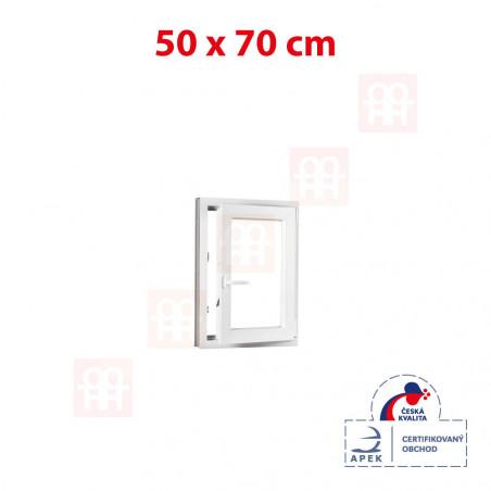 Plastové okno   50 x 70 cm (500 x 700 mm)   biele   otváravé aj sklopné   pravé
