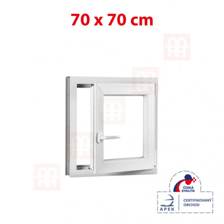 Plastové okno | | biele | otváravé aj sklopné | pravé