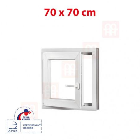 Plastové okno   70x70 cm (700x700 mm)   biele   otváravé aj sklopné   ľavé