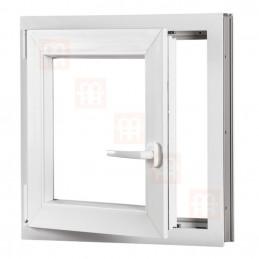 Plastové okno 70x70 cm, otváravé aj sklopné, biele, ľavé