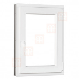 Plastové okno 70 x 90 cm, otváravé aj sklopné, biele, pravé