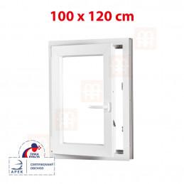 Plastové okno 100x120 cm, otváravé aj sklopné, biele, ľavé