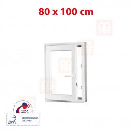 Plastové okno 80x100 cm, otváravé aj sklopné, biele, ľavé