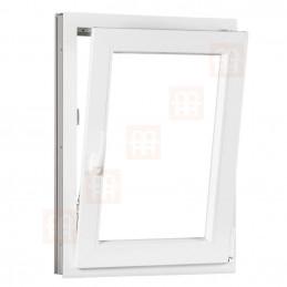 Plastové okno 80 x 120 cm, otváravé aj sklopné, biele, pravé