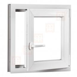 Plastové okno 80 x 80 cm, otváravé aj sklopné, biele, pravé