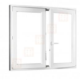 Plastové okno dvojkrídlové 150 x 150 cm, biele, bez stĺpika (štulp), pravé