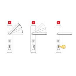 Plastové dvere | 90 x 205 cm (900 x 2050 mm) | biele | plné | pravé