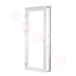 Plastové dvere | 90 x 205 cm (900 x 2050 mm) | biele | plné | ľavé