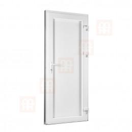 Plastové dvere   90 x 205 cm (900 x 2050 mm)   biele   presklenné   pravé