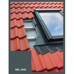 Lemování pro střešní okno 66x118 cm, hnědá RAL 8019, profilovaná krytina
