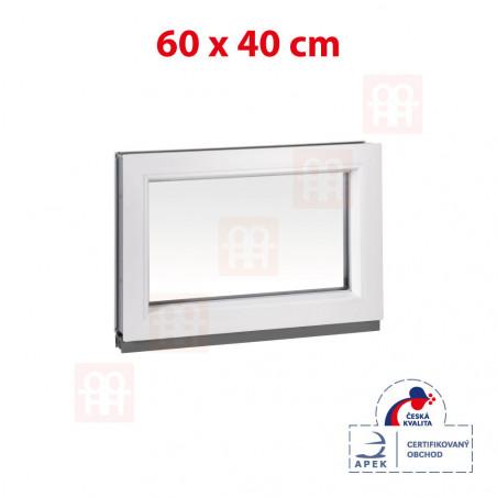 Plastové okno | 60x40 cm (600x400 mm) | biele | fixné