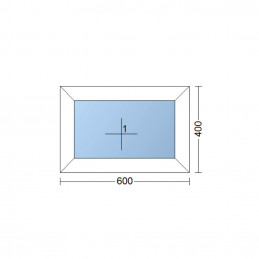 Plastové okno   60x40 cm (600x400 mm)   bílé   fixní