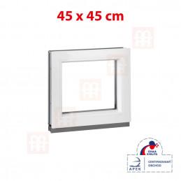 Plastové okno | 45x45 cm (450x450 mm) | biele | fixné (neotvárateľné)