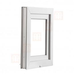 Plastové okno | 120x50 cm (1200x500 mm) | biele | sklopné | pivničné