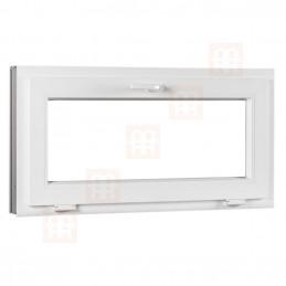 Plastové okno   70x44 cm (700x440 mm)   biele   sklopné   pivničné