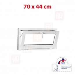Plastové okno | 70x44 cm (700x440 mm) | biele | sklopné | pivničné