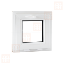 Plastové okno 42 x 42 cm, biele, sklopné