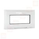 Plastové okno 70 x 42 cm, biele, sklopné