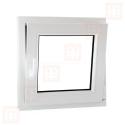 Plastové okno 100 x 100 cm, otváravé aj sklopné, biele, pravé
