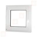 Plastové okno 100x100 cm, otváravé aj sklopné, biele, ľavé