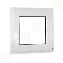 Plastové okno 120 x 120 cm, otváravé aj sklopné, biele, pravé