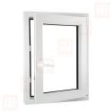 Plastové okno 60 x 100 cm, otváravé aj sklopné, biele, pravé