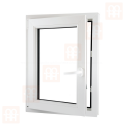 Plastové okno 70x110 cm, otváravé aj sklopné, biele, ľavé