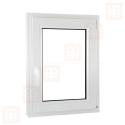 Plastové okno 90 x 110 cm, otváravé aj sklopné, biele, pravé
